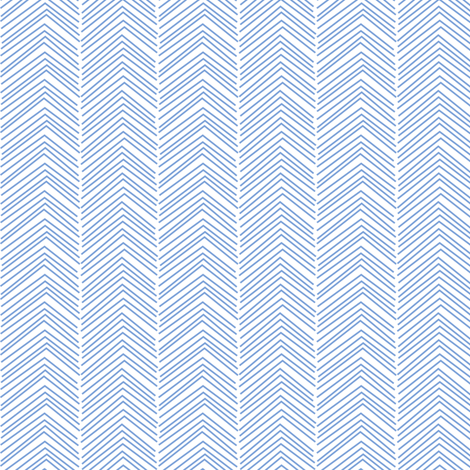 chevron ♥ cornflower blue and white