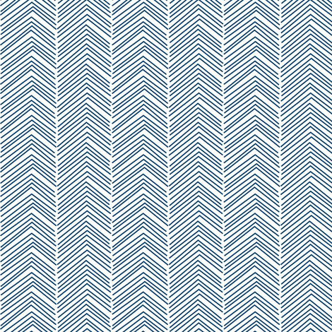 chevron ♥ navy blue and white fabric by misstiina on Spoonflower - custom fabric