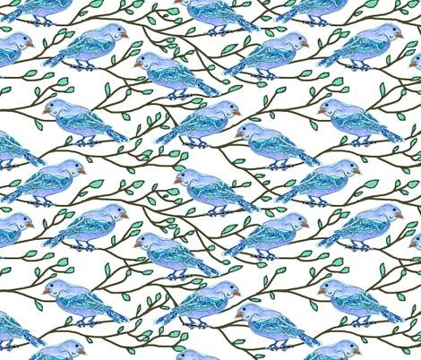 Blue Bird Conference fabric by martaharvey on Spoonflower - custom fabric