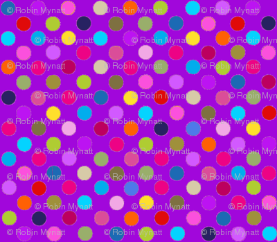 Fancy Party! Multi POlka Dots on Purple