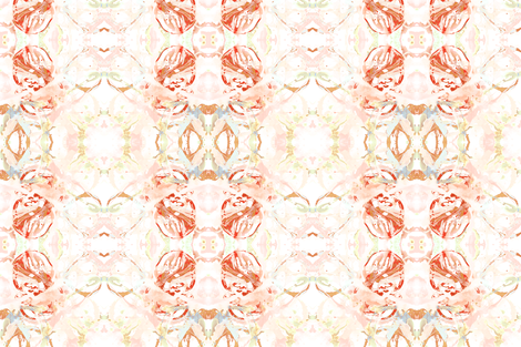 411 red peach mint fabric by lindsayarrington on Spoonflower - custom fabric