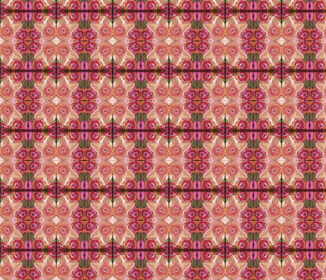 Geometric Floral Print in Baby Pink, Hot Pink, and Peach fabric by theartwerks on Spoonflower - custom fabric