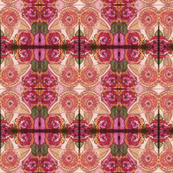 Geometric Floral Print in Baby Pink, Hot Pink, and Peach