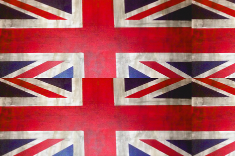 UK Flag / Union Jack Print fabric by theartwerks on Spoonflower - custom fabric