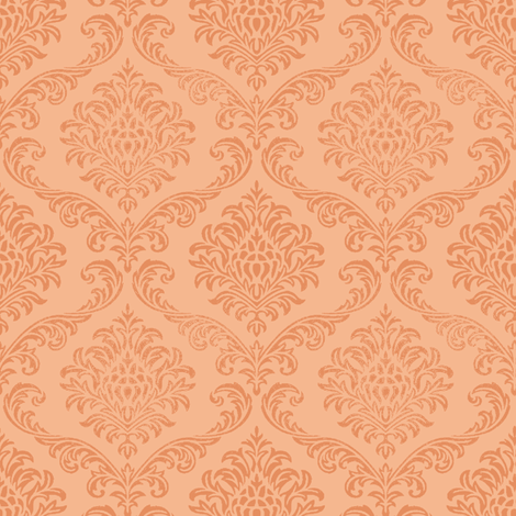 Rock Brocade / Peach fabric by paragonstudios on Spoonflower - custom fabric