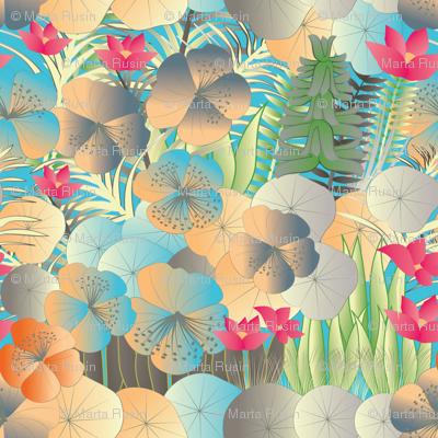 tropical flora vivid
