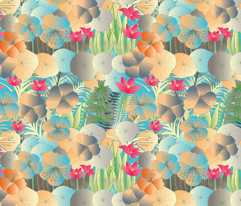 tropical flora vivid fabric by kociara on Spoonflower - custom fabric
