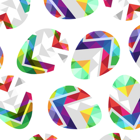 rainbow_chevron_eggs-01 fabric by mainsail_studio on Spoonflower - custom fabric