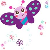 Baby Butterfly Garden! - Baby Butterfly Purple - © PinkSodaPop 4ComputerHeaven.com