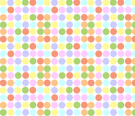 Circles in Pastels fabric by theartwerks on Spoonflower - custom fabric