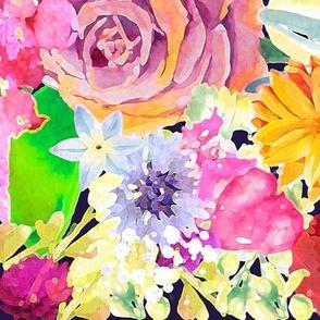 Summer Bouquet // Navy