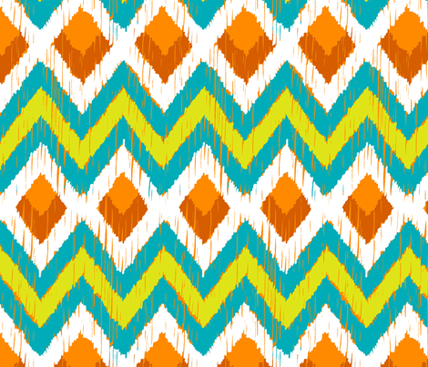NATIVO - teal, lime, mandarin  fabric by marcador on Spoonflower - custom fabric