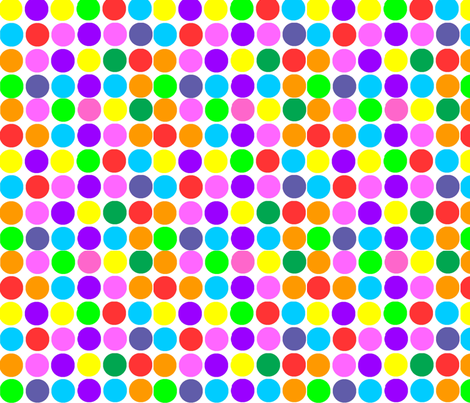 Circles in Bright Rainbow fabric by theartwerks on Spoonflower - custom fabric