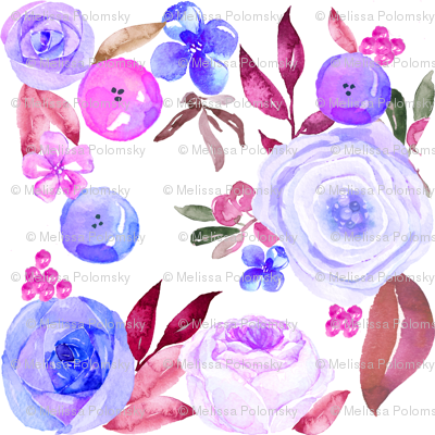 Sumer Blooms in Pinks, Blues, and Violets