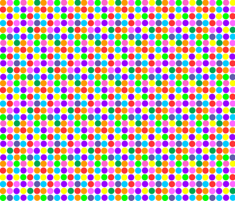 Small Print Circles in Rainbow Bright fabric by theartwerks on Spoonflower - custom fabric