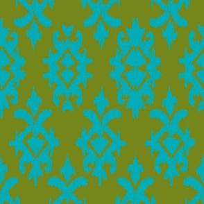 CONTESSA IKAT - moss + jade