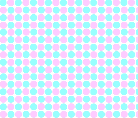 Circles in Tiffany Blue and Light Pink fabric by theartwerks on Spoonflower - custom fabric