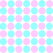 Circles in Tiffany Blue and Light Pink