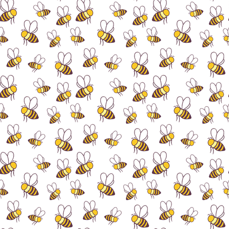 Honeybees fabric by jlindsey on Spoonflower - custom fabric