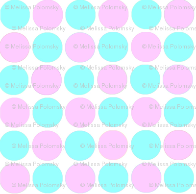 Teen Tiny Circles Print in  Tiffany's /Turquoise Blue and Light Pink