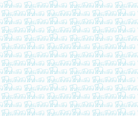 Small Print Tiffany Blue Elephants in a Row