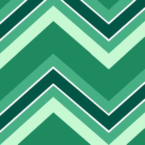 Chevron / emerald