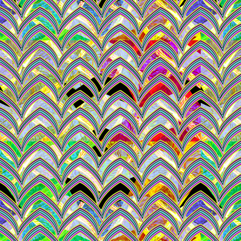 wild_diamonds_zigzag_w_flying_wings fabric by glimmericks on Spoonflower - custom fabric