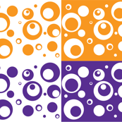 Circles and Dots Grape Marmalade Quad