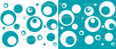 Circles and Dots - 2 Turquoise Designs in One