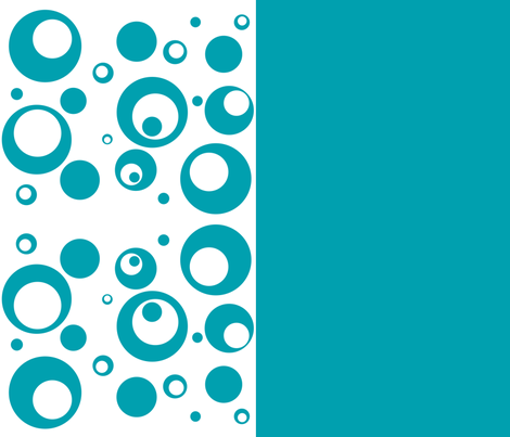 Circles and Dots - Turquoise Design and Solid fabric by ripdntorn on Spoonflower - custom fabric