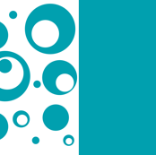 Circles and Dots - Turquoise Design and Solid