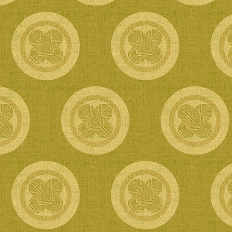 Falcon Feathers Crest - yellow and green fabric by materialsgirl on Spoonflower - custom fabric