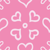 Heart Doily on Pink