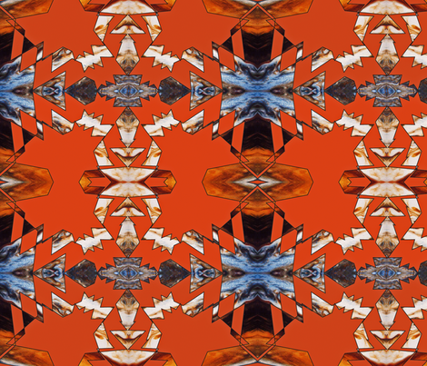 Orange Falls fabric by mikep on Spoonflower - custom fabric