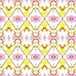 yellow and purple triange stripes-2