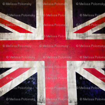 Square Vintage UK Flag Union Jack