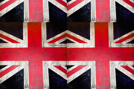 Square Vintage UK Flag Union Jack fabric by theartwerks on Spoonflower - custom fabric