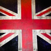 Square Vintage UK Flag Union Jack