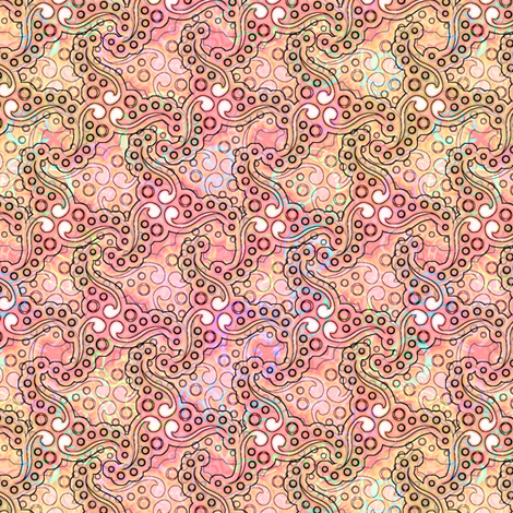 coral_swirls fabric by glimmericks on Spoonflower - custom fabric