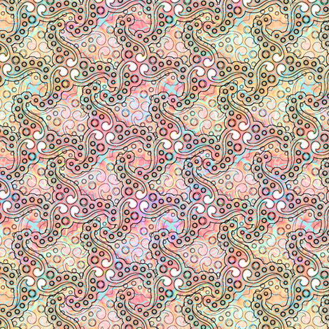 coral_ocean_swirls fabric by glimmericks on Spoonflower - custom fabric