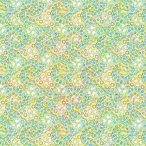 sunny_ocean_swirls fabric by glimmericks on Spoonflower - custom fabric