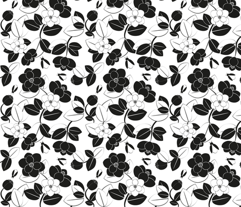 magnolia fabric by pimpa on Spoonflower - custom fabric