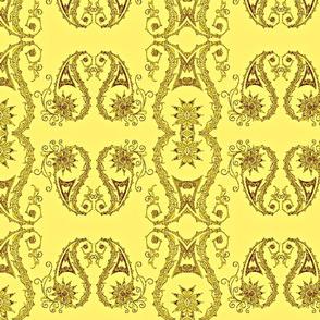 Paisley3-yellow/brown