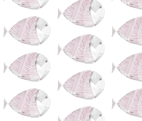 little fish fabric by mmminou on Spoonflower - custom fabric