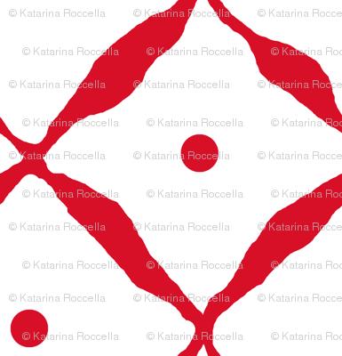 diamond dot net red
