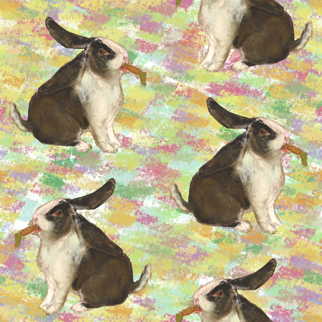 DutchLop Bunny 2 fabric by eclectic_house on Spoonflower - custom fabric
