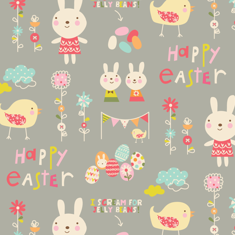 Easter Garden fabric by amel24 on Spoonflower - custom fabric