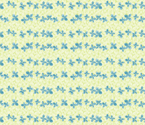 Hydrangea scatter, blue and green fabric by linkolisa on Spoonflower - custom fabric