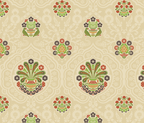 Damask VA2b fabric by muhlenkott on Spoonflower - custom fabric