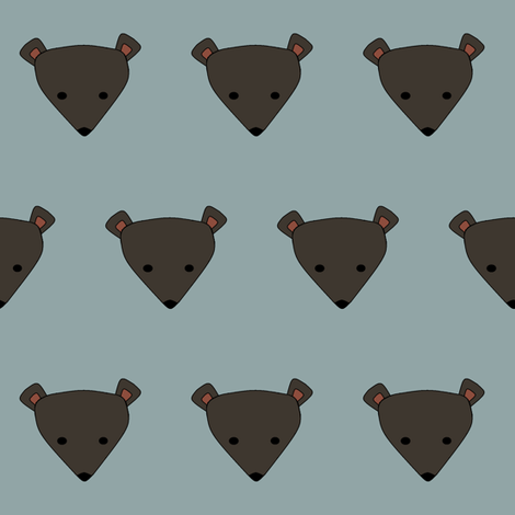 bashful bear fabric by hostetler on Spoonflower - custom fabric